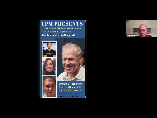 TeleHealth Webinar #8 – High Value MS Prehab/Rehab (w/ Paula Silva, PhD & Matthew Low, PT)