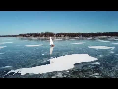 Dji mission Bush River Bar Harbor Ice Sailing Rogue.aircraft rebel.drone CherryHillCrew