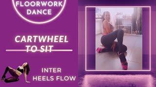 Intermediate EXOTIC DANCE | How to CARTWHEEL TO SIT | PoleFit