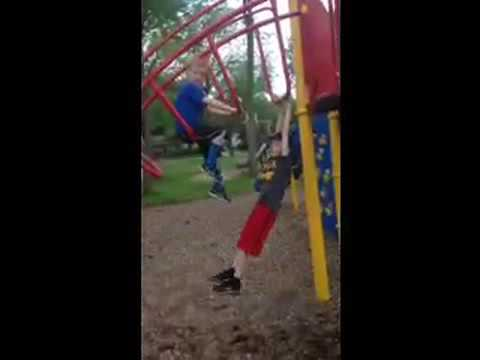 Kid Accidentally Pulls Boys Pants Down At Park