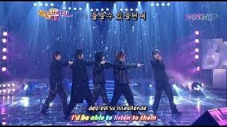 DBSK 동방신기 - Hug (debut stage) [eng + rom + hangul + karaoke sub]
