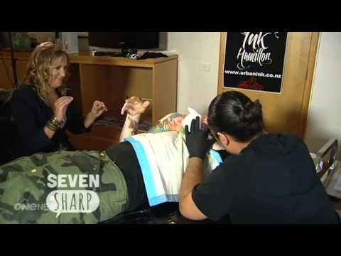 Ed Sheeran - New Zealand TV Interview, while being tattooed 06/03/13