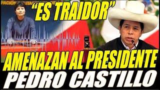 ¡TRAIDOR DEBE M0RIR! AUDIO de la CAMARADA VILMA AMEN4ZA al PRESIDENTE del PERU PEDRO CASTILLO