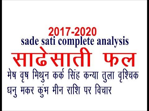 SADE SATI 2017 COMPLETE ANALYSIS( MESH TO MEEN RASHI)
