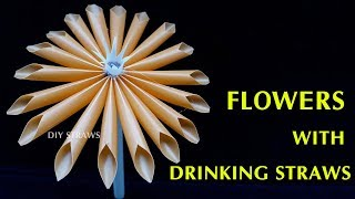 Creative Straws: How to make flowers with drinking straws step by step | DIY Art Straws