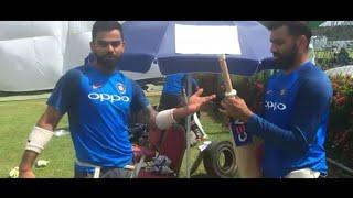 Rohit Sharma & Virat Kohli teaches how to put grip on bat