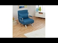 Foldable 3in1 Lounger, Chair and Bed  Single