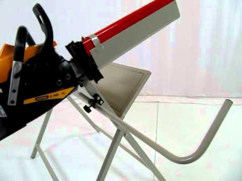 Cavalletto professionale per taglio tronchi con motosega.mov youtube
