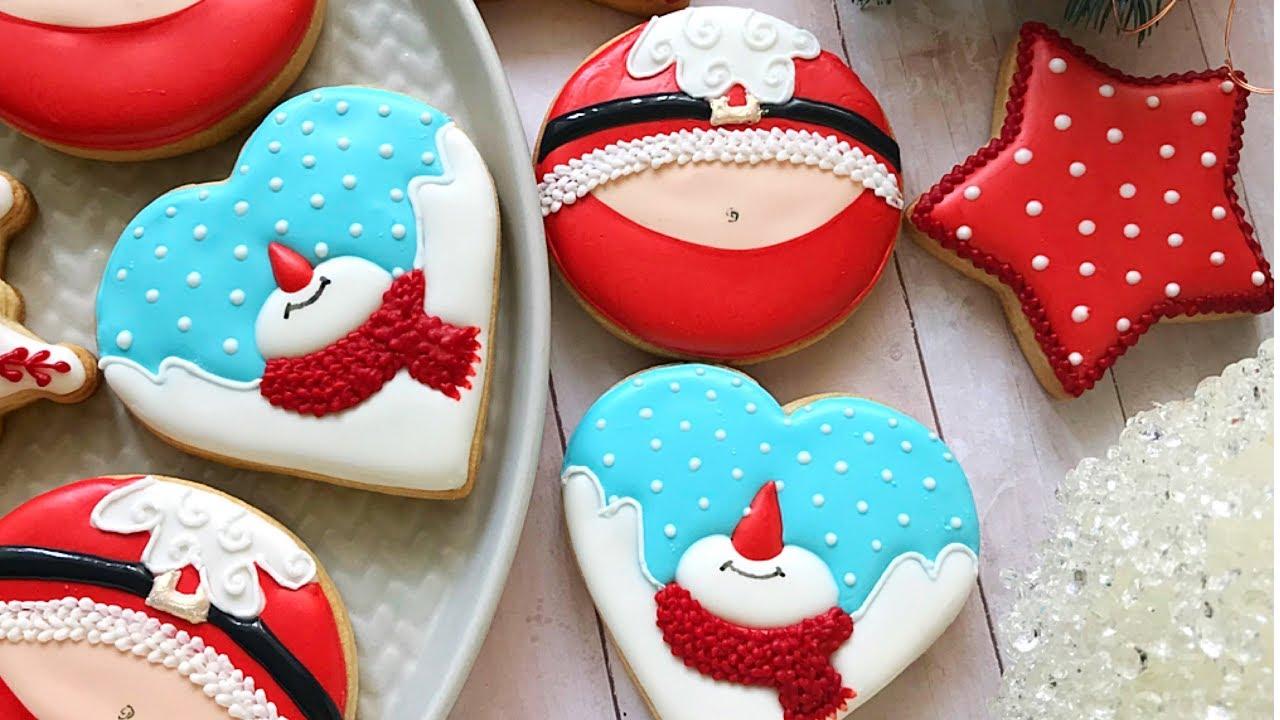 Snowman And Santa Santa S Belly Cookies
