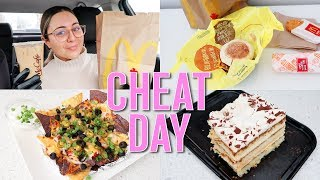 CHEAT DAY WHAT I EAT IN A DAY - I Ate Over 2500 Calories!
