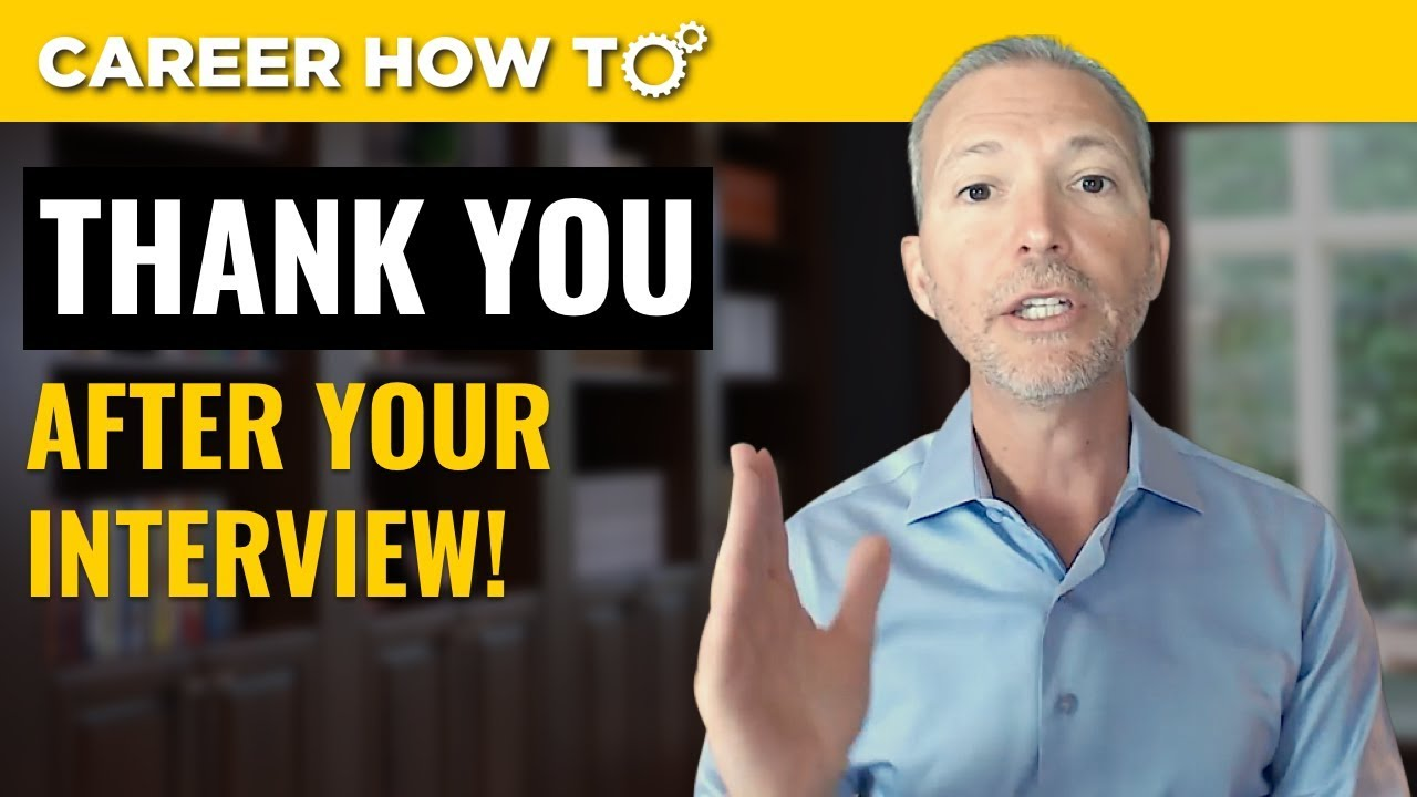 How To Write a Thank You Letter After a Job Interview - YouTube
