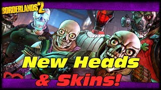 Borderlands 2 New Heads & Skins Miss Moxxi & The Wedding Day Massacre Headhunter DLC!