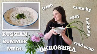 Cooking Russian Traditional Summer Meal — Okroshka   Cuisine in Russia