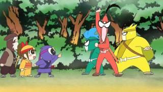現代の日本にタイムスリップした忍者玉丸たちが、敵の忍者から「虎の巻...