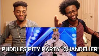 """Puddles Pity Party: Sad Clown Stuns Crowd with Sia's """"Chandelier"""" - AGT 2017 (REACTION)"""