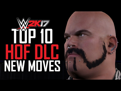 """WWE 2K17 TOP 10 DLC MOVES - """"HALL OF FAME 2K SHOWCASE"""" PACK!"""