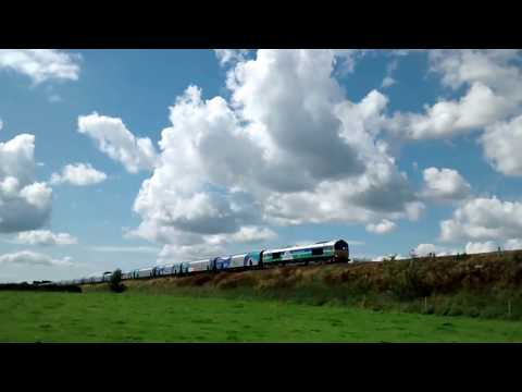 6E10 Liverpool to Drax Power Station Biomass train at Plumley, Cheshire