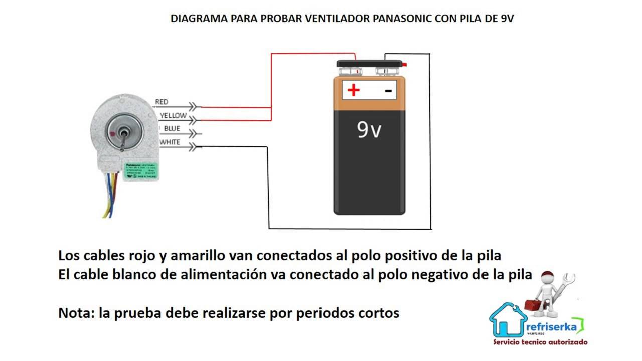 Panasonic Fan Wiring Diagram Will Be A Thing Ham Qc10escb Como Probar Ventilador De 9 75v Youtube Ceiling Circuit Board