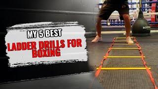 Footwork Drills Using Agility Ladder   Boxing Training