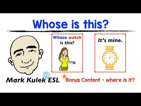 Whose Is This? - It's Mine + (Where is it?) | Mark Kulek - ESL from YouTube · Duration:  5 minutes 42 seconds