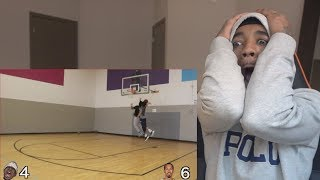 WHO WORSE AT BASKETBALL?🤔 ZIAS 1 VS 1 Against Sub GONE WRONG REACTION!