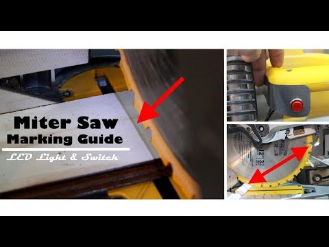 Miter Saw Marking Guide - LED Light Shadow Line