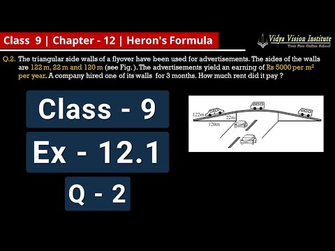 Heron's Formula || Part 3 - Exercise 12.1 - Q-2 || NCERT - Class 9 - Mathematics || Hindi