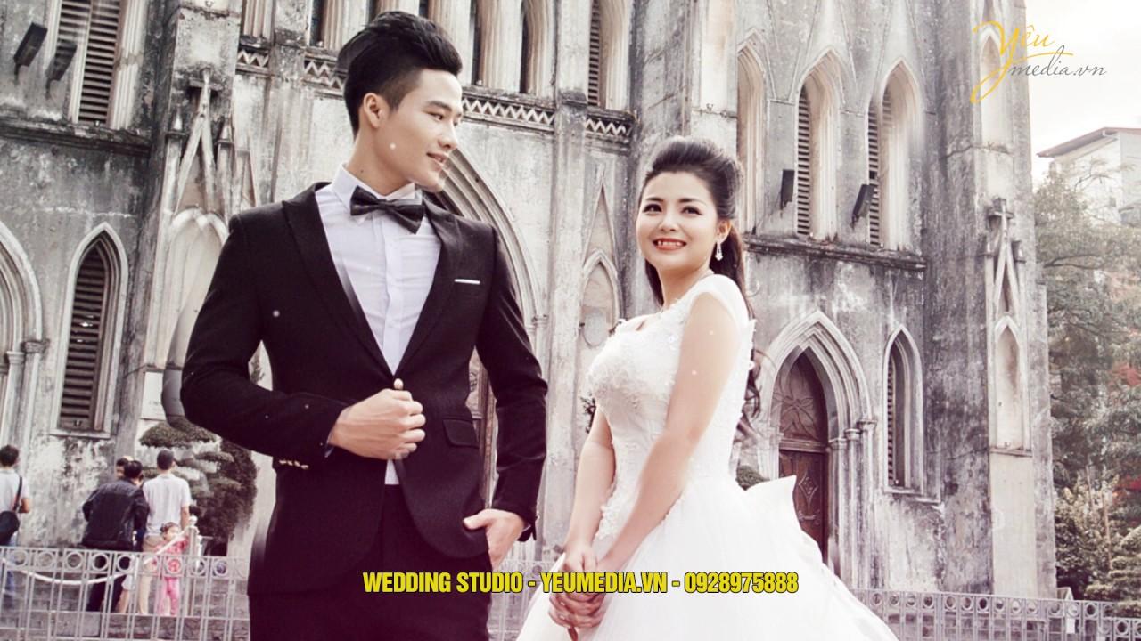 Chụp ảnh cưới ở Hà Nội - địa điểm Nhà thờ lớn