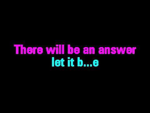 Let It Be Karaoke The Beatles   You Sing The Hits