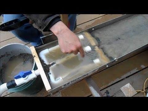 DIY Fluid Bed Sluice Box Magnetic Gold Trap Experiment