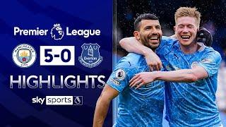 Aguero dazzles on final City appearance | Man City 5-0 Everton | Premier League Highlights
