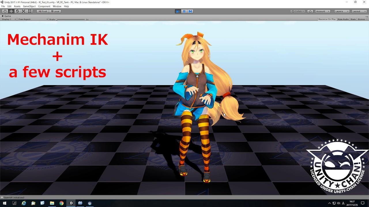 VR Motion Capture using Unity Mecanim IK with simple scripts