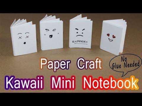 DIY MINI NOTEBOOKS in One Sheet of Paper - DIY Back to School - Kawaii Notebook - Exam Hacks