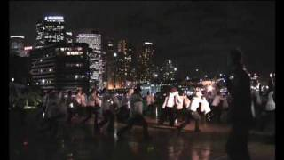 Tank Man Tango SYDNEY Tiananmen memorial 4 June 2009 (raw footage)