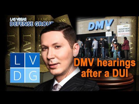 """DMV hearings"" in Las Vegas, NV DUI Cases"