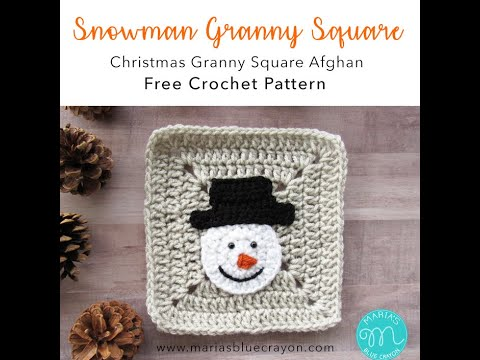 Snowman Applique Crochet Tutorial - XMAS CAL