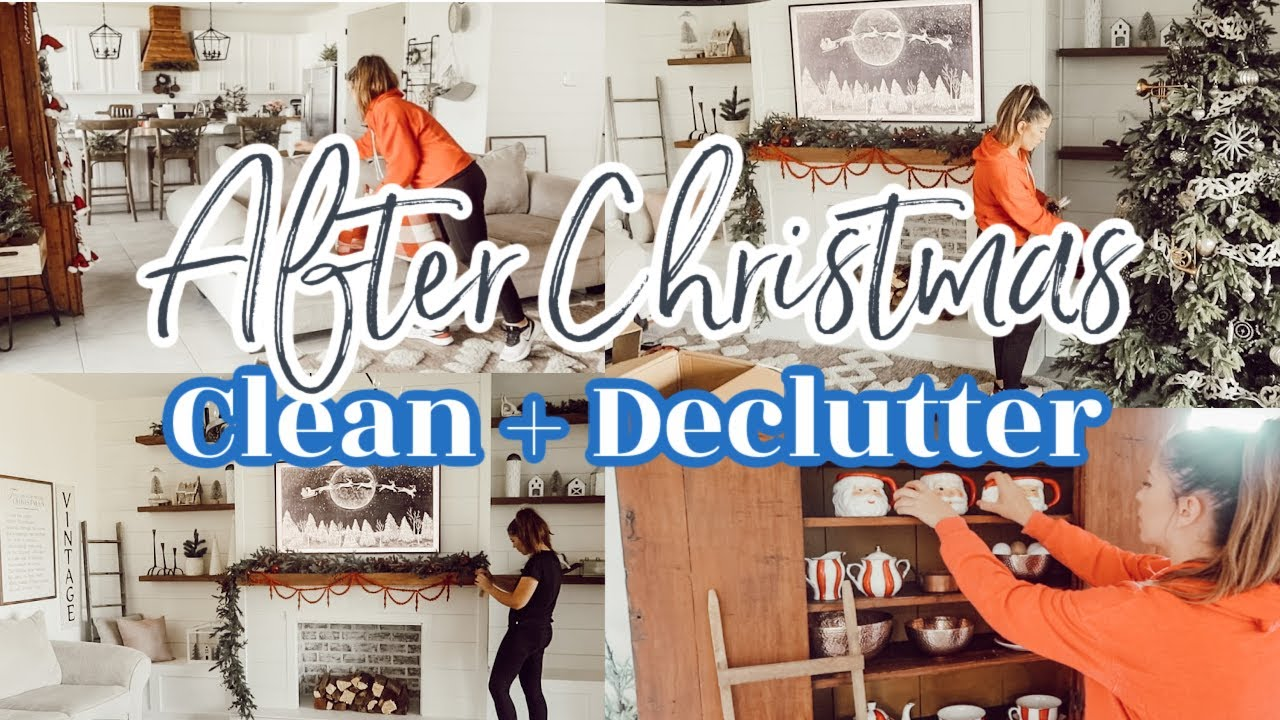 AFTER CHRISTMAS CLEAN + UN-DECORATE WITH ME | TAKING DOWN CHRISTMAS DECOR | CLEANING MOTIVATION