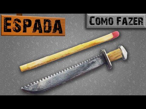 Como Fazer uma Mini Espada com um Parafuso