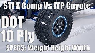 STI X Comp ATR STI & HD9 6+1 Beadlocks - Weight - Height - Width Vs ITP Coyote Stock Polaris Turbo S
