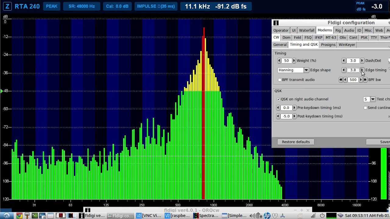 Linux Real Time Spectrum Analyzer