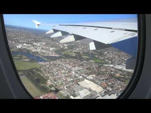 Emirates A380-800 Sydney to Auckland. Includes footage of Sydney Duty free shops.1080p