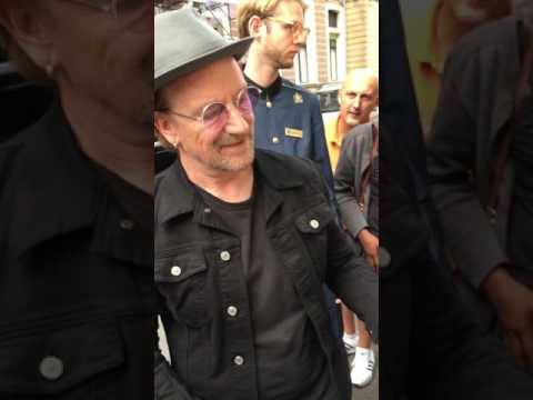 U2 Bono at the Amsterdam Amstel hotel