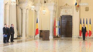 Miniştrii Stroe, Stănescu şi Nica au depus jurământul la Cotroceni;Tudose, prezent, Dragnea, absent