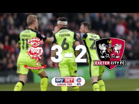 Lincoln City 3 Exeter City 2 (30/3/18) EFL Sky Bet League 2