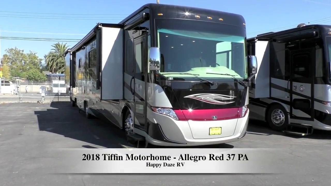 2018 Tiffin Motorhome Allegro Red 37pa