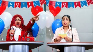 HIGH SCHOOL PRESIDENTIAL ELECTIONS *Popular Girl vs Unpopular Girl*