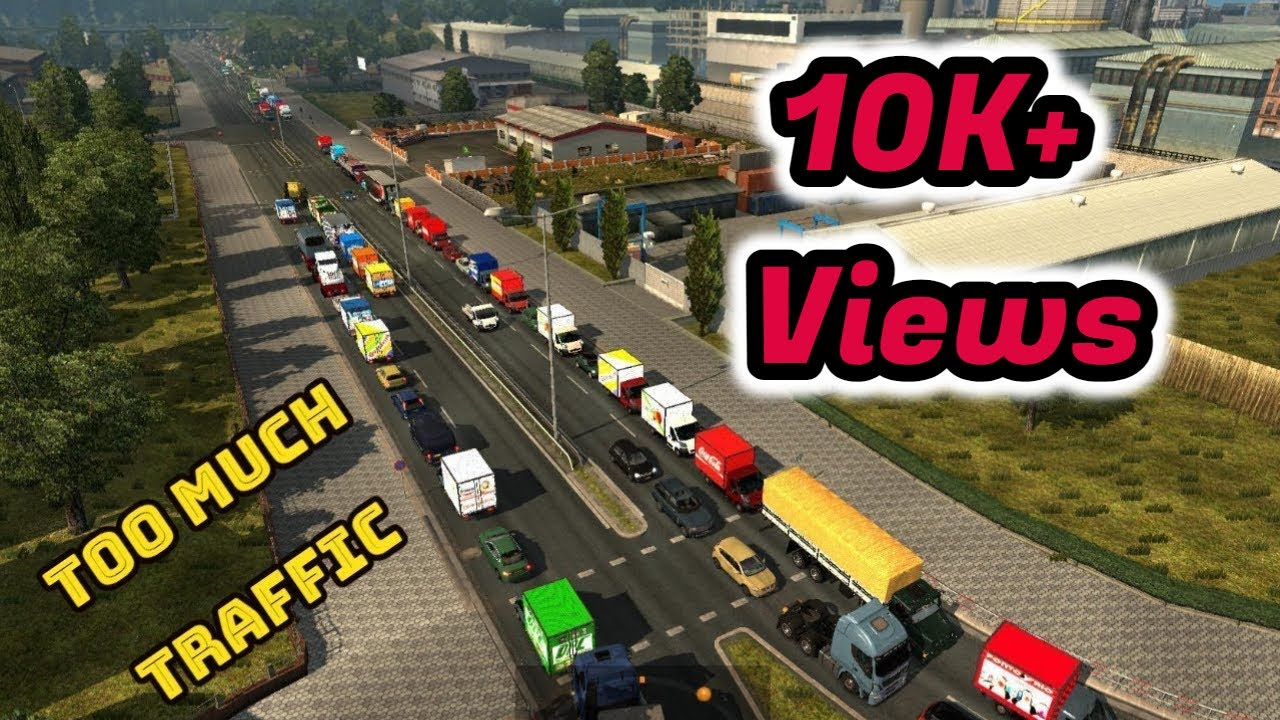 ETS 2 || Increase Your Traffic density || Without Any Mod