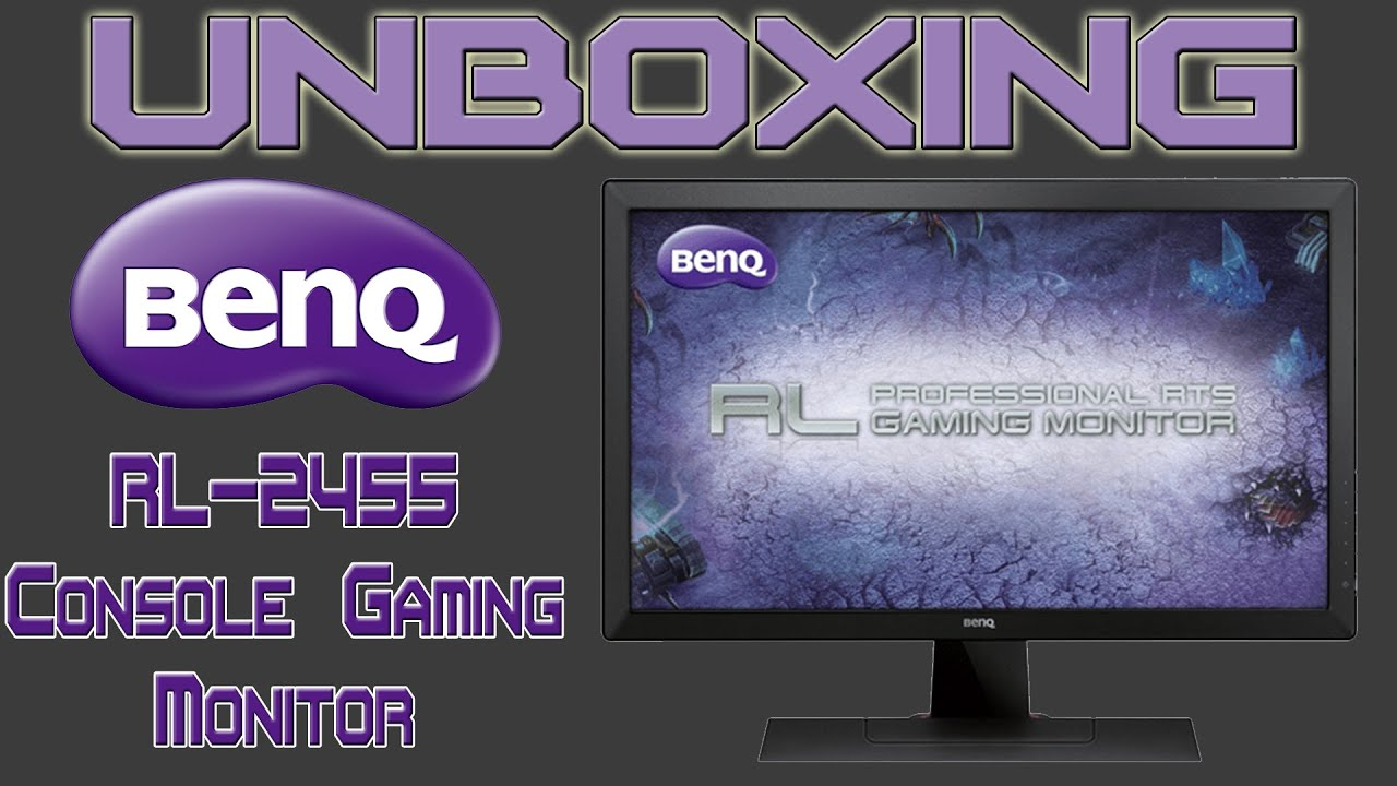 UNBOXING BENQ RL2455HM 24 INCH GAMING MONITOR!!! (MLG APPROVED)