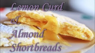 How To Bake Lemon Curd And Almond Shortbreads.
