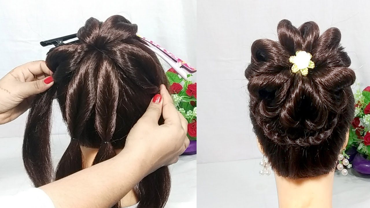 Youtube Hair Style: Heart Bun Hairstyles With Trick